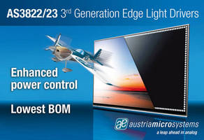 Austriamicrosystems Launches New LED Drivers and Optimized Backlight Power Supply to Provide Best Efficiency in LED TVs