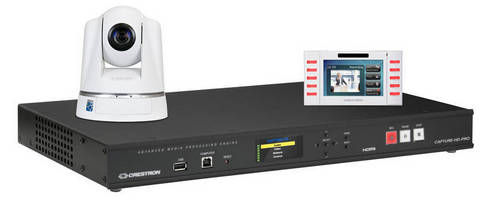 Crestron One-Touch Lecture Capture Solution Makes Presentations Available to Everyone