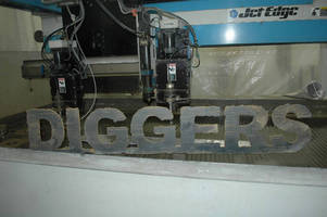 Waterjet Manufacturer Jet Edge Cuts Logo for National Geographic Channel's 'DIGGERS'