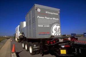 GE's Trailer-Mounted TM2500+(TM) Aeroderivative Gas Turbine Joins Ecomagination(TM) Product Portfolio