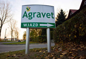 Vista System's Double Sided Post Pylons Were Recently Installed at Agravet, a Leading Agriculture Supply Company, Located in Glogowek, Poland