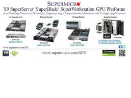 Supermicro® Highlights Latest GPU SuperServer®, SuperBlade® and NVIDIA® Maximus (TM) Certified SuperWorkstation Solutions at GTC 2012