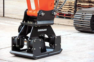 Doosan Plate Compactors Expand Excavator Versatility