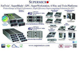 Supermicro® FatTwin(TM) Takes Center Stage at International Supercomputing Conference 2012