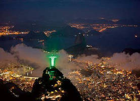 Signal for Sustainability: Christ the Redeemer Statue Basking in Green Light for the Rio+20 Conference