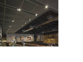 Blue Smoke Restaurant Features pinta acoustic Ceiling Products
