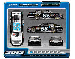 Brian Vickers Driving Special #55 Toyota Camry Saluting Jet Edge Waterjets at Sylvania 300, September 23 in Loudon, N.H