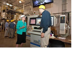 U.S. Rep. Judy Biggert Tours PTi and Views Eco-Efficient Sheet Manufacturing System