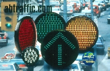 Traffic Signals use LEDs instead of incandescents.