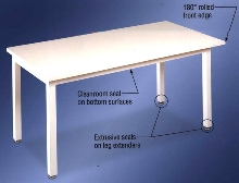 Workbench suitable for cleanrooms and labs.