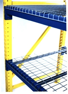 Wire Decking protects warehouse storage.