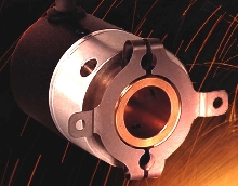 Hollow Bore Encoder accepts large shaft sizes.
