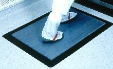 Sanitary Mat picks up foot-borne contaminants.