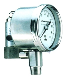 Pressure Gauge includes integral transmitter.