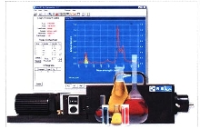 Spectrophotometer provides control and analysis.