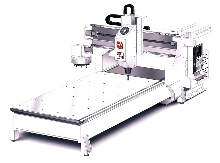 Gantry Router doubles as milling machine.
