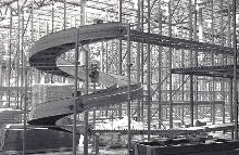 Spiral Conveyor optimizes floor space.