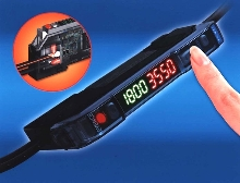Fiberoptic Sensor Amplifier has dual digital display.