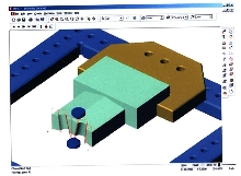 CAD/CAM Software creates tool path from models.