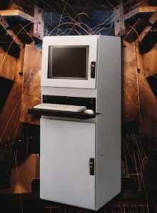 Computer Enclosure protects in industrial environments.