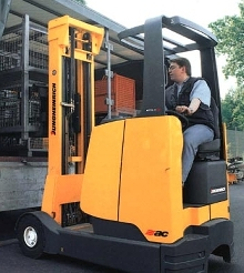 Electric Reach Truck suits indoor and outdoor applications.