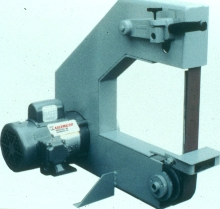 Belt Grinder has open area design for easy access.