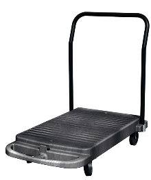 Transport Cart has 3-position fold-down handle.