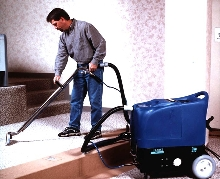 Carpet Extractors clean with steam.