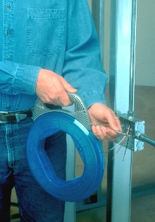 Fish Tape works in difficult conduit runs.