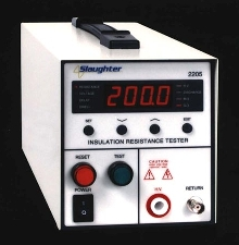 Insulation Resistance Tester measures up to 200 Gigohms.