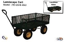 Landscape Carts have fold-down sides.