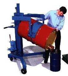Drum Handlers lift, transport, and dispense.