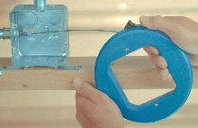 Fish Tape has non-curling design for easy wire pulling.