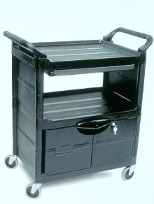 Cart transports high-tech equipment.