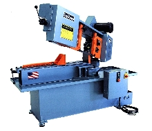 Band Saw has swing head for easy miter.