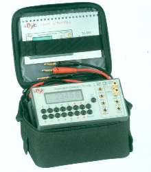 Precision Calibrator has voltage output from -15 to 75 mV.