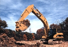Hydraulic Excavator has turbocharged diesel engine.