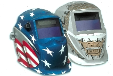 Welding Helmets have eye-catching graphics.