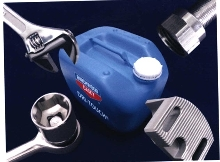 Sealant protects chrome plated tools.