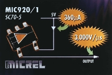 Op Amps feature improved slew rate/power ratio.