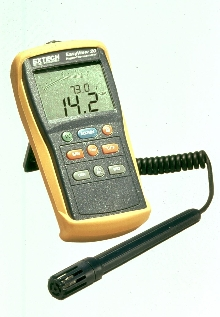 Hygro-Thermometer displays 2 parameters simultaneously.