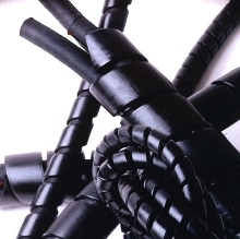 Spiral Wrap protects cable and hoses.