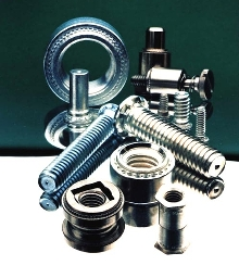 Fasteners eliminate need for nuts and bolts.