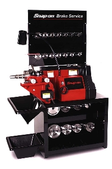 Rotor/Brake Lathe operates at one spindle speed and feed rate.