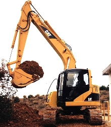 Hydraulic Excavator offers compact radius for tight spaces.