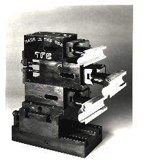 Die Holder fits stacked tooling sets.