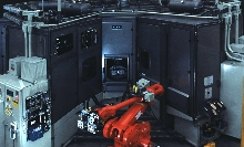 Machining Center handles components with single clamp.