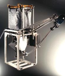 Bulk Bag Discharger measures loss-in-weight.