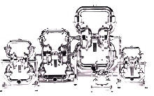 Diaphragm Pumps allow large particles to pass through.