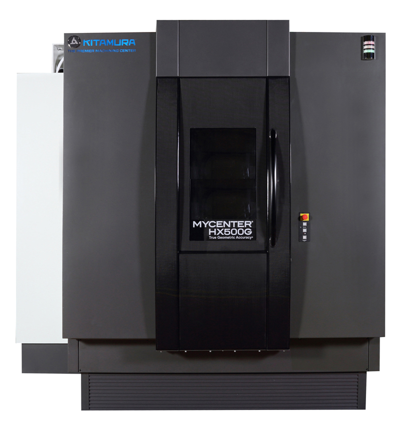 The Mycenter-HX500G from Kitamura is a 4-axis horizontal machining center designed for speed and precision.